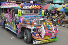 Spend more than five minutes in the Philippines and you will spot your first Jeepney. They are all over the Philippines and the paint jobs vary wildly in their outrageousness. This one was spotted at the Carbon Market in Cebu City. Philippines Cebu, Philippines Travel, Humanity House, Olongapo, Jeepney, Cebu City, Wanderland, Music Backgrounds, Roller Skating
