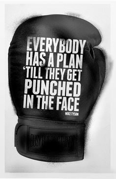 Everybody has a plan 'till they get punched in the face. - Mike Tyson