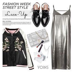 """Lace it up: NYFW Street style"" by purpleagony ❤ liked on Polyvore featuring River Island"