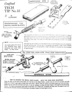 Craftool swivel knife sharpening 1