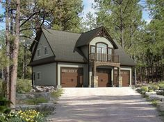 Beaver Homes and Cottages. If possible have higher terrain on one side (like vermont carriage house) to allow walk up and get rid of stairs. Plan Garage, Garage Loft, Dream Garage, Garage Shop, Garage Ideas, Garage Apartment Plans, Garage Apartments, Small House Plans, House Floor Plans