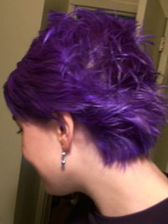 special effects hair dye in Wildflower - a bright purple!  Amphigory has awesome color