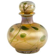 An Art Nouveau Tiffany Favrile Decorated Perfume Bottle by Tiffany Studios | 1stdibs.com