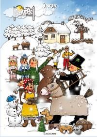 Únor, tématický obraz Month Weather, Weather For Kids, Weather Seasons, Seasons Of The Year, Four Seasons, Everyday Activities, Elementary Science, Gross Motor, Winter Time