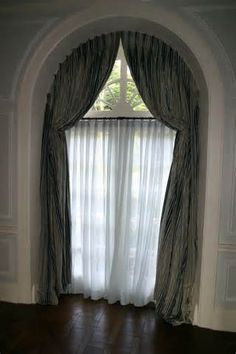 Arched Window Treatments 920x1380 Arched Top Draperies Rosenfeld ...