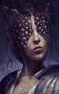 Fan art portraits of godlike watchers for the game Pillars of Eternity from Obsidian Entertainment. Character Inspiration, Character Art, Character Design, Magical Creatures, Fantasy Creatures, Sci Fi Fantasy, Dark Fantasy, Obsidian Entertainment, Pillars Of Eternity
