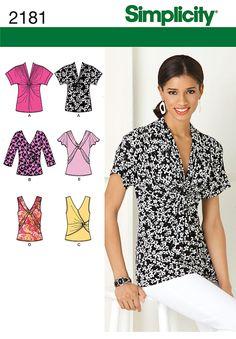 simplicity patterns tops blouses | Details about BLOUSE TOP TUNIC SEWING PATTERN SIMPLICITY choose PLUS 4 ...