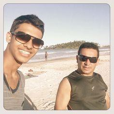 Na praia com Tio Amadeu..