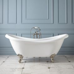 """69"""" Candace Acrylic Clawfoot Tub - Imperial Feet - Bathroom"""