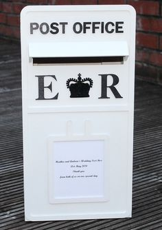 Freestanding Large wooden wedding post box by scratchycat on Etsy, £53.56