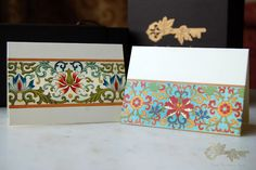 Personalized cards featuring borders inspired by Indian Saris! From www.thesecretink.in