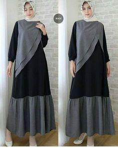 Hijab Fashion 2016, Abaya Fashion, Girl Fashion, Fashion Dresses, Muslim Long Dress, Moslem Fashion, Hijab Style Dress, Batik Fashion, Batik Dress