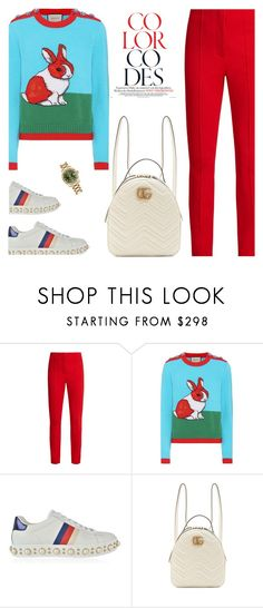 """TOP SET March 4, 2018 -- GUCCI"" by fashionmonkey1 on Polyvore featuring Diane Von Furstenberg, Gucci, Rolex and gucci"