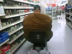 fat guy on a little chair