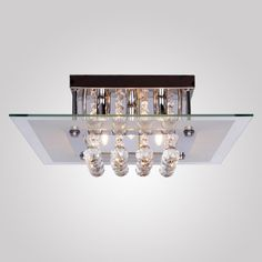 LightInTheBox ModernComtemporary Crystal Drop Flush Mount Ceiling Lights Fixture with 5 Lights in Square Design Modern Home Ceiling Light Fixture Flush Mount Pendant Light Chandeliers Lighting *** Check out this great product.