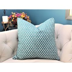 Teal Geometric Linen Pillow Cover Turquoise Pillow Large Scale Graphic... ($30) ❤ liked on Polyvore featuring home, home decor, throw pillows, decorative pillows, home & living, home décor, silver, beige throw pillows, graphic throw pillows and turquoise throw pillows
