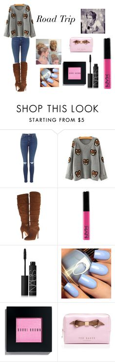 """Road Trip"" by jazzybarrera on Polyvore featuring GUESS, NARS Cosmetics, Bobbi Brown Cosmetics and Ted Baker"