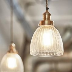 Brooklyn Vintage Antique Ribbed Glass Retro Cone Pendant - 7 inch - Available in 2 - 4 weeks