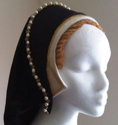 Tudor headdress – A Damsel in This Dress Renaissance Costume, Medieval Costume, Renaissance Fashion, Medieval Dress, Medieval Clothing, Antique Clothing, Steampunk Clothing, Steampunk Fashion, Elizabethan Fashion