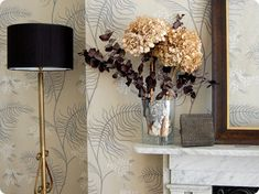 Mimosa wallpaper by Cole & Son. Maxine Sutton, Kent.