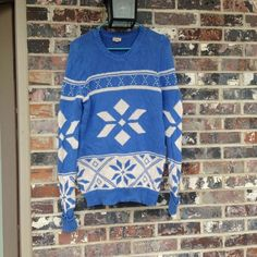 Blue and white sweater Beautiful sweater and only lightly worn Sweaters
