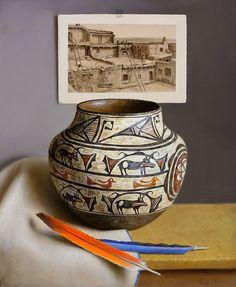 William Acheff (1947–Present), Zuni Pueblo, oil on canvas, 12 x 10 in, JHAA 2009 Sold: $13,225