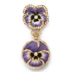 Antique Pansy Brooch