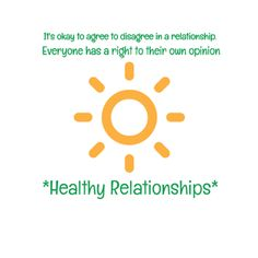Healthy Relationships Agree To Disagree, Healthy Relationships, Its Okay, Its Ok