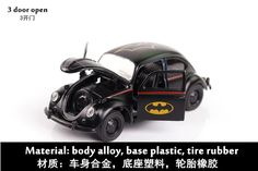 $21.3 - Cool 1:36 Toy Car Beetle Classic Alloy Diecast Car Model Toy Cartoon Vehicle Batman Toy Pull Back Car Toys For Children - Buy it Now!