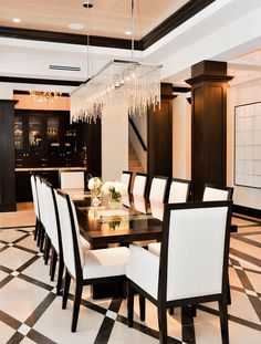 Contemporary Formal Dining Room Sets Find This Pin And More On The By Mansiondreams Intended Decorating Ideas