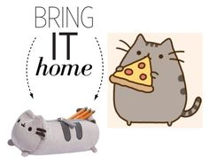 """""""Bring It Home: Pusheen Pencil Case"""" by polyvore-editorial ❤ liked on Polyvore featuring interior, interiors, interior design, home, home decor, interior decorating and bringithome"""
