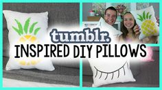Tumblr Inspired DIY Pillows are an easy and inexpensive way to add new life to your space!