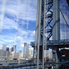 Crossing Manhattan bridge Manhattan Bridge, Skyscraper, Multi Story Building, Beautiful, Skyscrapers