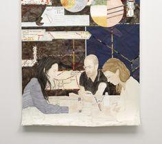 Helen Johnson, Kant Reading Group detail 2011, acrylic on paper