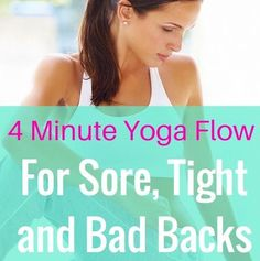 4 Minute Yoga Flow For A Bad Low Back - Get Healthy U 4 Minute Yoga Flow For A Bad Low Back - Get Healthy U This workout will help relieve...