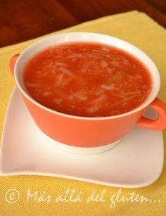 Más allá del gluten...: Sopa de Repollo y Tomate (Receta SCD, GFCFSF, Vegana)