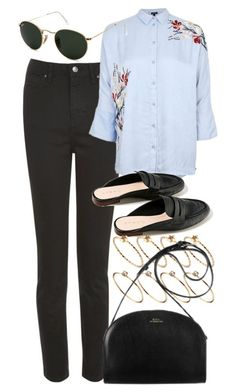 """""""Untitled #6215"""" by rachellouisewilliamson on Polyvore featuring Topshop, Belgique, ASOS and Ray-Ban"""