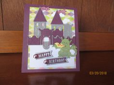 Karen Burniston Castle Pop-up card