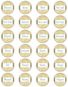 spice jar lid labels mason jar label templates spice jar labels