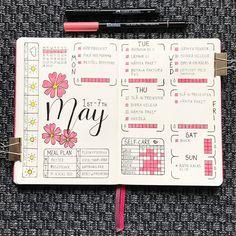 This week all filled in!  Love the way it turned out, all pink and sunny ☀️ Made me happy!  • • • #bulletjournalcommunity #bujolove #bujocommunity #bujoinspire #showmeyourplanner #plannergirl #bujojunkies #bulletjournallove #leuchtturm1917 #bulletjournalnewbie #bujosweden #journaling #wearebujo #bohoberrytribe #bujo #bujonewbie #planneraddict  #bulletjournalweeklylog #bujobeauty #LifebyW #plannercommunity #plannergeek #planner #weeklylayout #weeklyspread #notebook #bujospread #stationer...