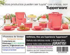 Quieres ganar regalos Tupperware ? Esta es tu oportunidad sé una Anfitriona Tupperware invita a tus amigos,familiares,vecinos a disfrutar de una Experiencia Tupperware en Tampico , Altamira, Cd. Madero y Naranjos, Ver ,Contactame::egarcia_67@hotmail.com -Whatsapp: 833 2928319 Visitanos en https://www.facebook.com/TupperwareTampicoClaridad