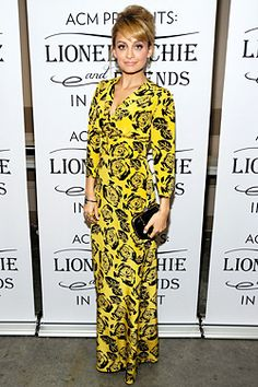 Nicole Richie in sunny yellow Winter Kate