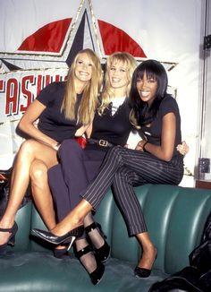 Elle, Claudia, Naomi in the 90's.