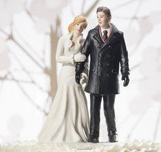 Winter Wonderland Wedding Figurine - Custom Color hair from TheWeddingOutlet.com