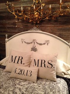 ~  we ❤ this! moncheribridals.com #mrandmrspillows