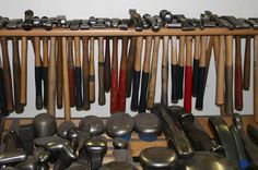 All the stretching and compressing is done by using hammers to move the metal and a selection of anvils, which we call stakes, to support the metal. Description from thedesigntower.blogspot.com. I searched for this on bing.com/images