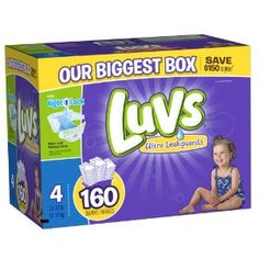 Luvs With Ultra Leakguards Size 4 Diapers 160 Count - http://babyentry.com/baby/diapering/luvs-with-ultra-leakguards-size-4-diapers-160-count-com/