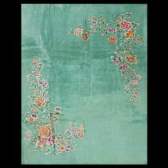 Stock Id: #19800    General Rug Type:       Chinese    Specific Rug Type:       Chinese - Art Deco    Circa: 1930    Color: Green    Origin: China    Width: 9' 0'' ( 274.3 cm )    Length: 11' 6'' ( 350.5 cm )