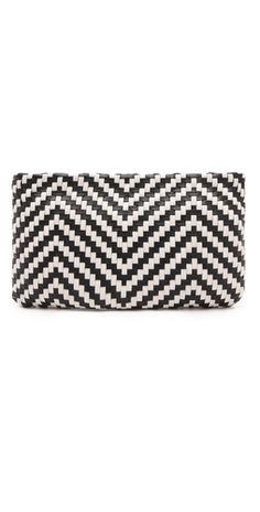 Love this Christopher Kon 'Alisson' black & white stripe clutch $215, get it here: http://rstyle.me/~hqAI