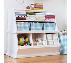These shelves are perfect for holding just about everything! - from The Land of Nod